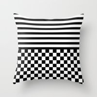 Stripes And Squares Throw Pillow