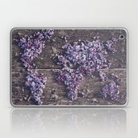 Lilac world map Laptop & iPad Skin