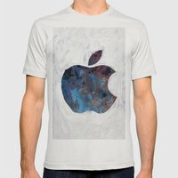 Painted Apple Mens Fitted Tee Silver SMALL