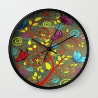 Butterflies-5 Wall Clock
