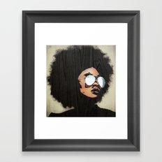 Venus Afro Framed Art Print