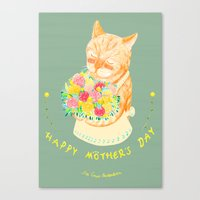 Happy Meowther's Day Canvas Print