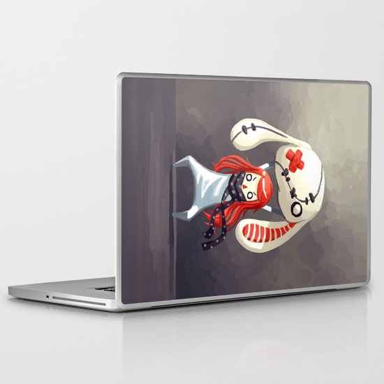 Bunny Plush Laptop & iPad Skin
