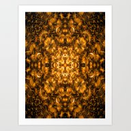 Golden Kaleidoscope Art Print
