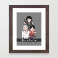 Black Books Framed Art Print