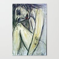 NUDE IN DEEP THOUGHTS Canvas Print