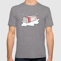 Spilt Milk Mens Fitted Tee Tri-Grey SMALL