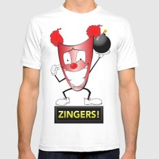 Zany Zinger T-Shirt Alternate SMALL White Mens Fitted Tee
