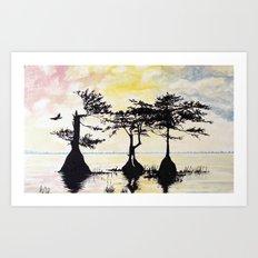 Serine Side of the Swamp Art Print