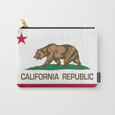 California Republic state flag - Authentic High Quality Version Carry-All Pouch