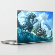 Laptop & iPad Skin featuring Blue Dragon by Sandara