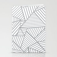 Abstraction Lines Zoom G… Stationery Cards