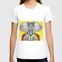 ELEPHAS Womens Fitted Tee White SMALL