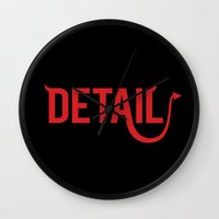 The Devil Is In The Deta… Wall Clock