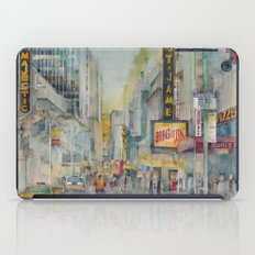 Broadway,  New York - Five O'Clock Revised iPad Case