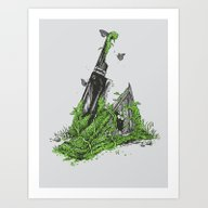 Art Print featuring Silent Decay by Hillary White