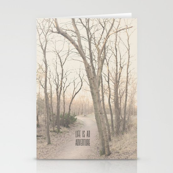 Life is an adventure Stationery Card