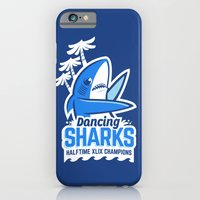 iPhone & iPod Case featuring Dancing Sharks by Ben Douglass