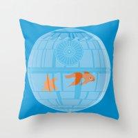 Empire Fish Bowl Throw Pillow