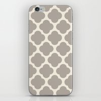 gray clover iPhone & iPod Skin