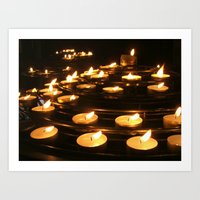 Joan of Arc's Candles Art Print