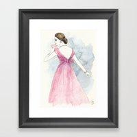 'Emma' Watercolor Fashio… Framed Art Print