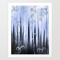 Blue Forest Abstract Art Print