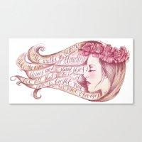 She Walks in Beauty Canvas Print