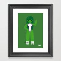 She Hulk Framed Art Print