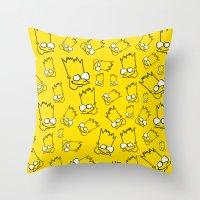 Badly Drawn Bart Throw Pillow
