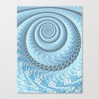 Spiral In Light Blue Canvas Print