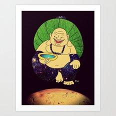 total peace buddha Art Print