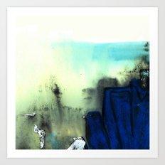 Blue Rock Art Print