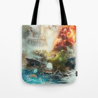 The 4 elements of the Zodiac Tote Bag