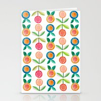 Water colour flowers Stationery Cards