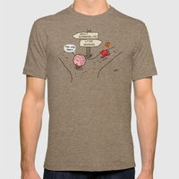 The Fork Mens Fitted Tee Tri-Coffee SMALL