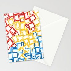 rectangles in primary colours Stationery Cards
