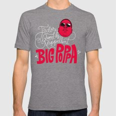 French Poppa 2.0 Mens Fitted Tee Tri-Grey SMALL