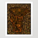 Aztec Elephant with floral Pattern iPhone 4 4s 5 5c 6, pillow case, mugs and tshirt Art Print