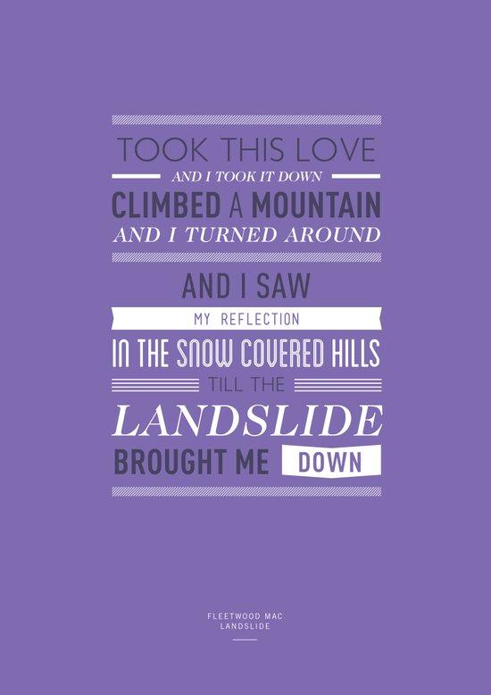 Lyrical Type - Landslide Canvas Print