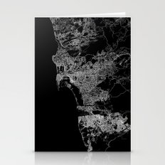 San Diego Map Stationery Cards