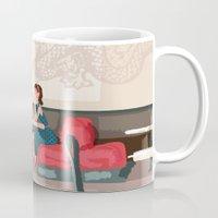 Sipping Green Tea At The… Mug