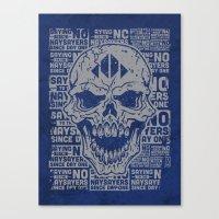 Naysayer Skull Canvas Print