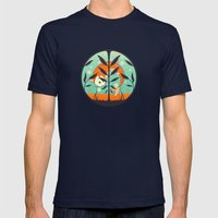 acquario Mens Fitted Tee Navy SMALL