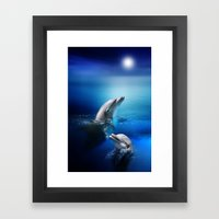 Dolphin Delight Framed Art Print