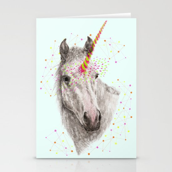 Unicorn V Stationery Card