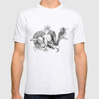 The Ramskull And Bird Mens Fitted Tee Ash Grey SMALL