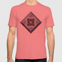 Snowy Rose Brier  Mens Fitted Tee Pomegranate SMALL