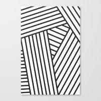 Optical Stripes Canvas Print