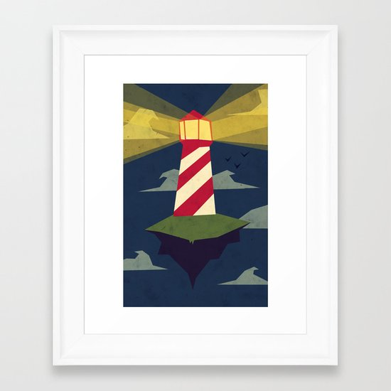 A Light house Framed Art Print